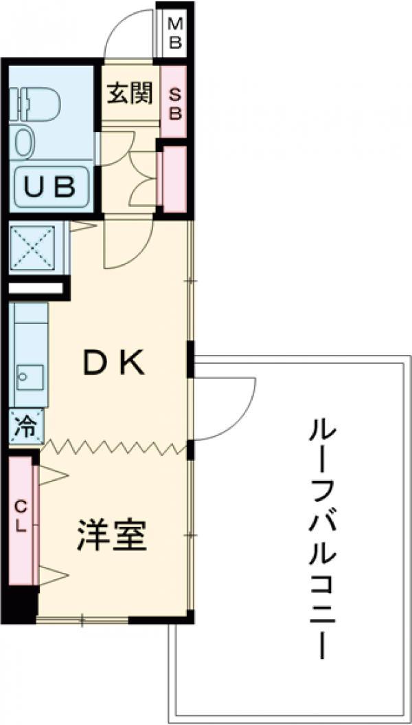 モナーク蒲田 703号室の間取り