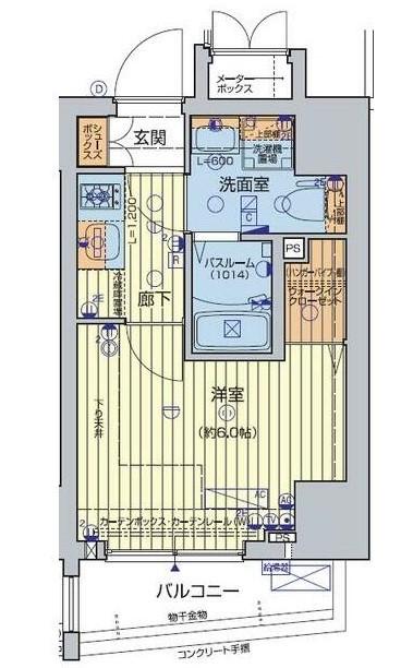 レオンコンフォート池田山 703号室の間取り