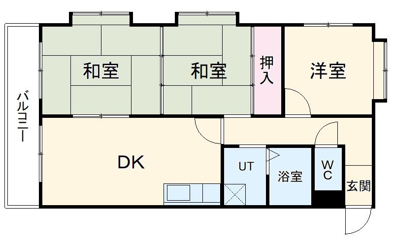THE TOKUGETU20 4E号室の間取り