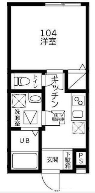 (仮称)Sazanka 104号室の間取り