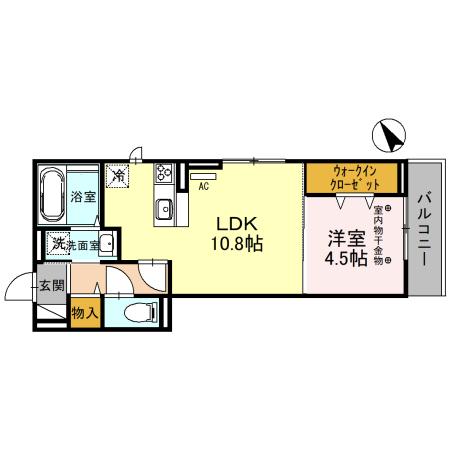 仮)D-room入間川 301号室の間取り