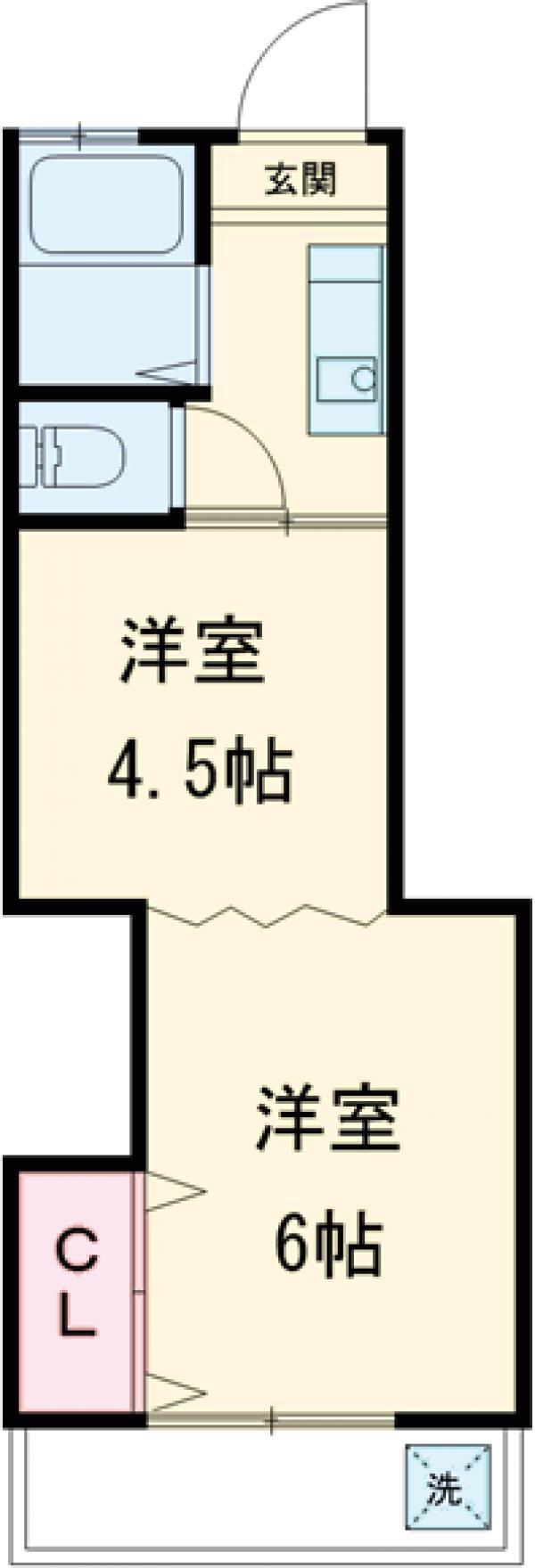 桜井ハイツ・2-C号室の間取り