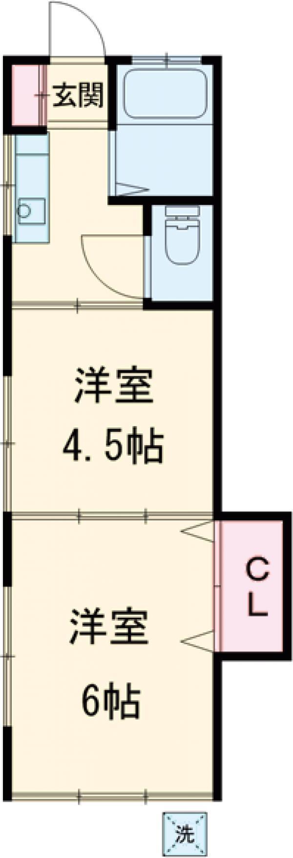 桜井ハイツ・1-C号室の間取り