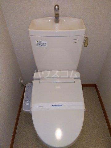 レオパレスKC 204号室のトイレ