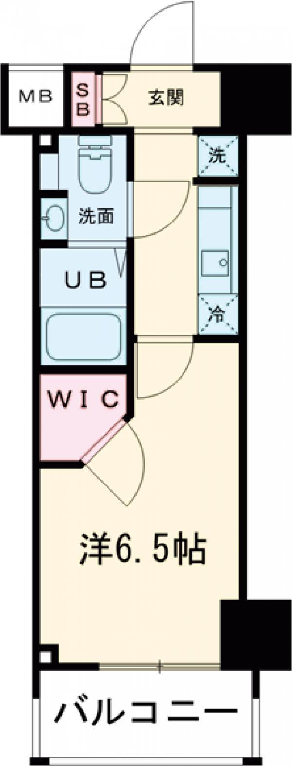 レジディア笹塚Ⅱ 1404号室の間取り