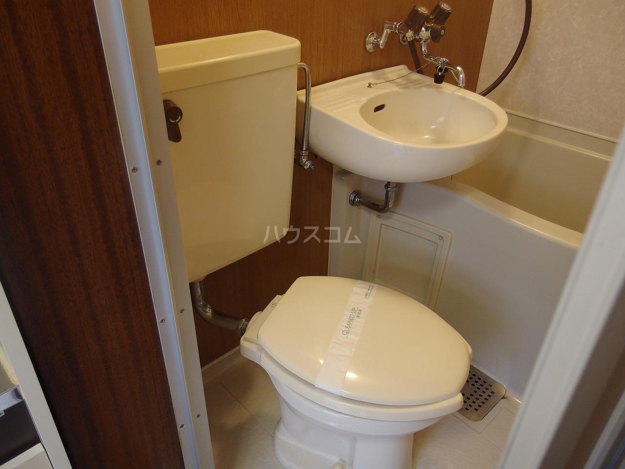 シャルマンハウス石田1号館 205号室のトイレ