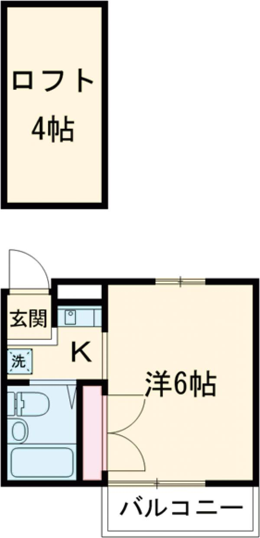 シャルマンハウス石田2号館 106号室の間取り