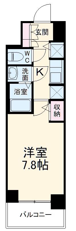 S-RESIDENCE葵II 504号室の間取り