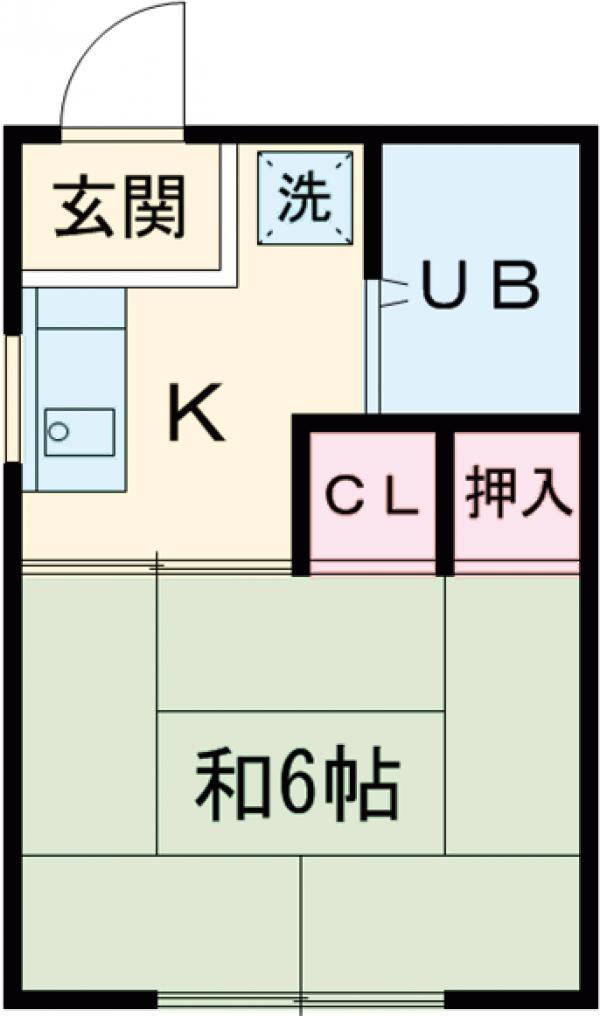 HOUSE-8・2-B号室の間取り