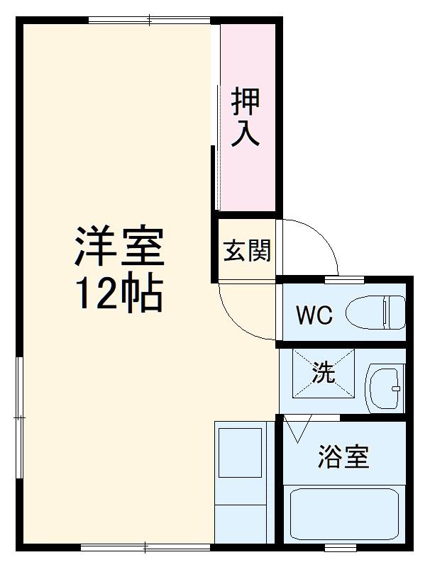 ナギサハイツⅡ・202号室の間取り