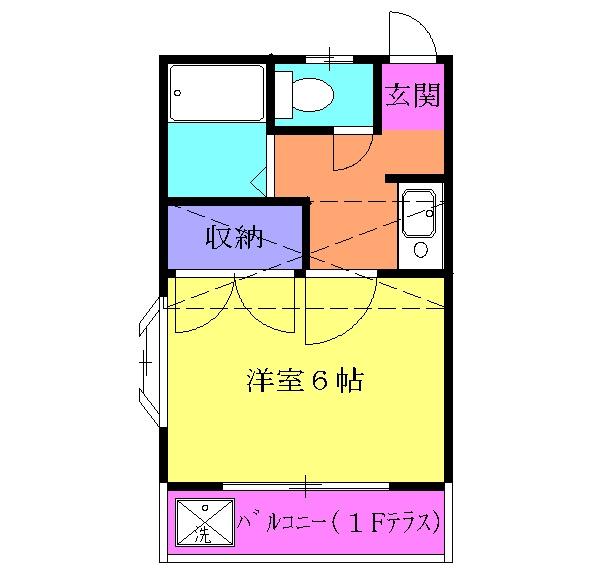 サンワード小泉No.11・206号室の間取り