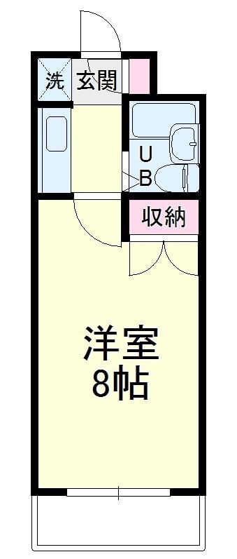 中沢シティハイツガーデン・515号室の間取り