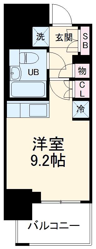 レジディア川崎・1004号室の間取り