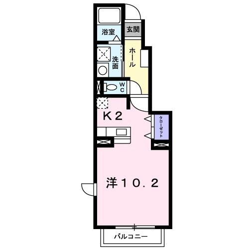 サンシャイン 桜川 A・01020号室の間取り