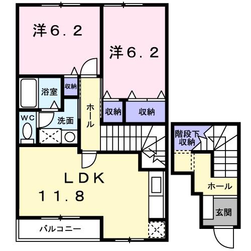 リバーサイド本山 B・02020号室の間取り