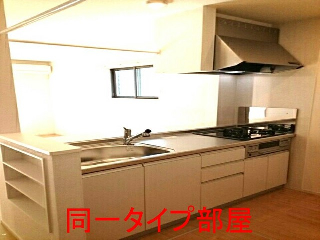 ウイステリアA棟 01020号室のキッチン