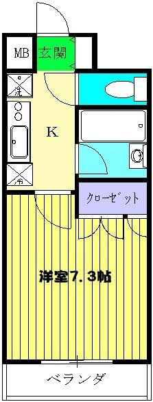 スペーシア川崎Ⅲ・213号室の間取り