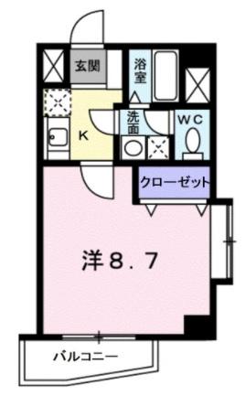 シャトーノール梅島・02010号室の間取り