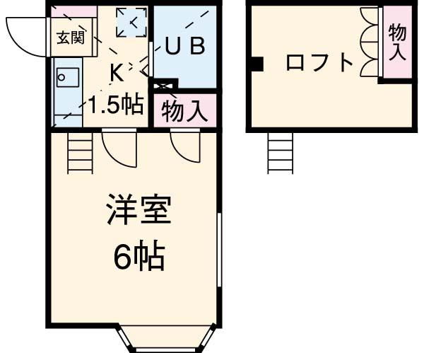 コスモ六実東・102号室の間取り
