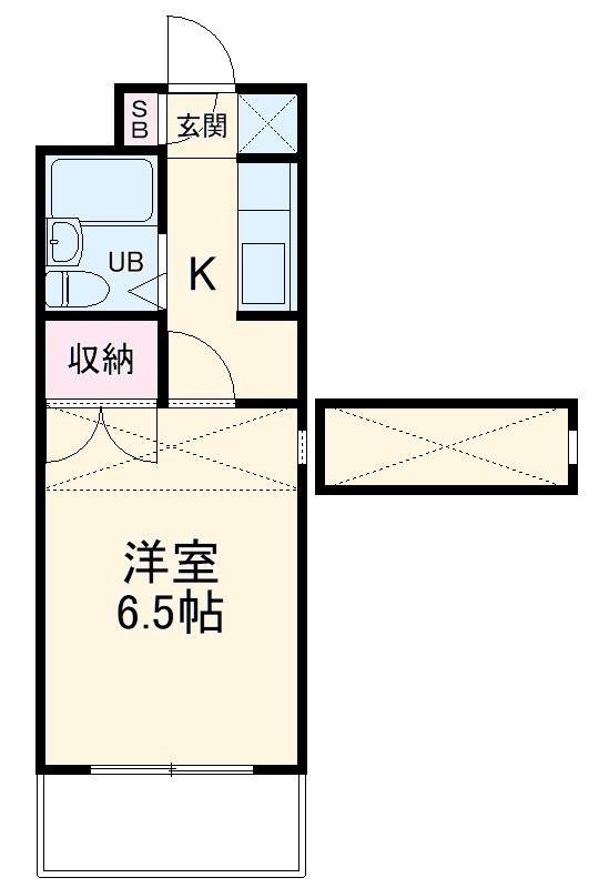 上島ロイドアパートC 201号室の間取り