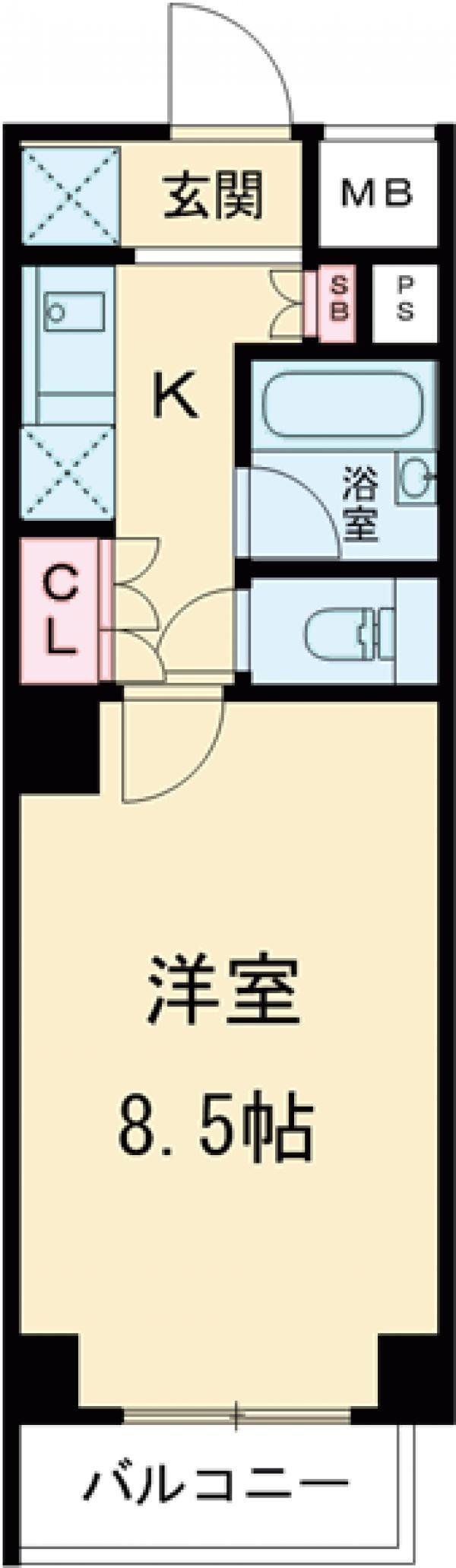 プレール・ドゥーク品川西大井・206号室の間取り