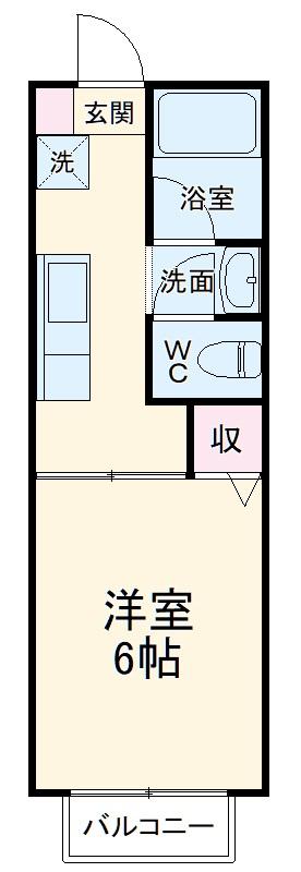 クオリティハイツ鎌ヶ谷・106号室の間取り