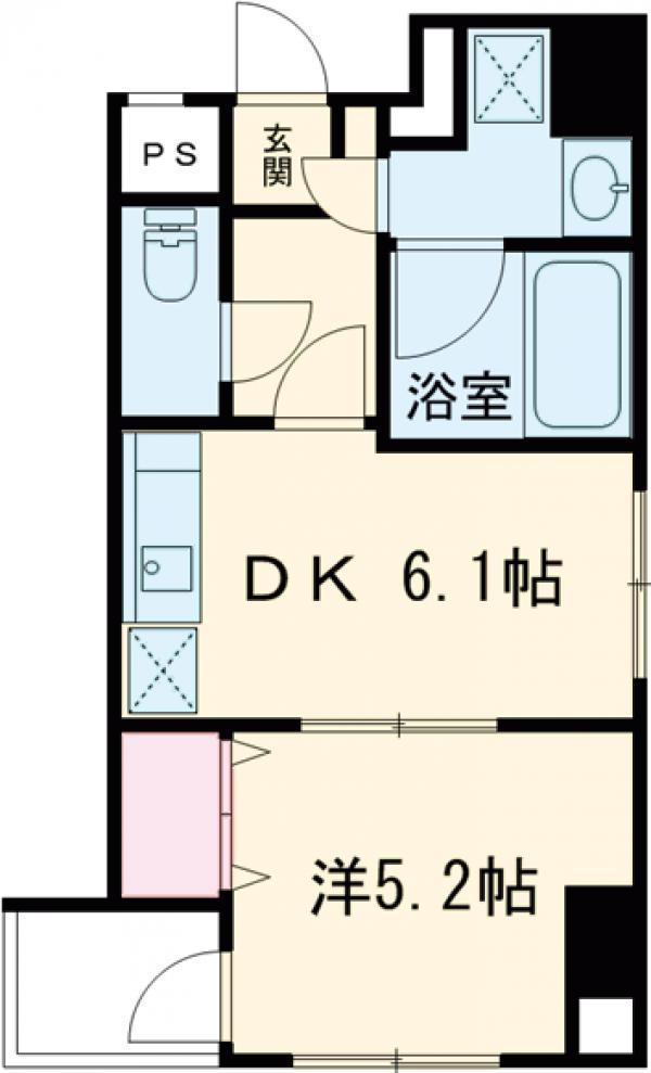 ピースフルコート菊川・401号室の間取り