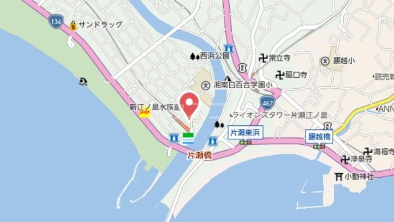 クリークフラワーガーデン片瀬江ノ島 301号室の地図