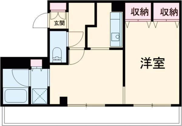 パルテールIWASAKI・0308号室の間取り