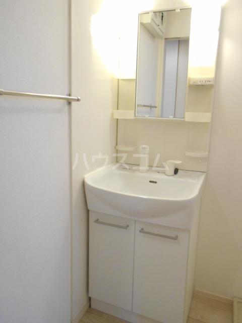 ベルフローラB 102号室の洗面所