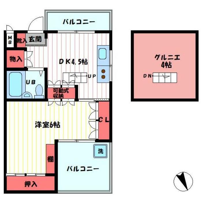 ラ・ベルティ成増パートⅠ 303号室の間取り
