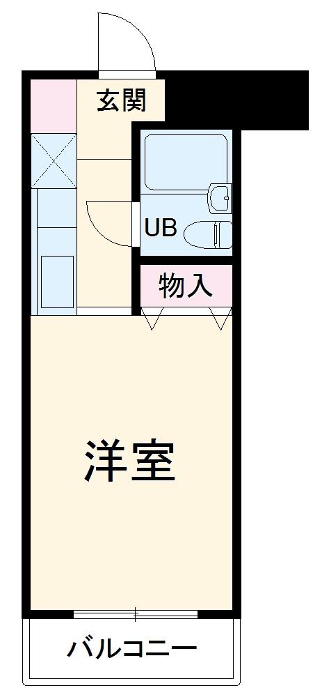スカイコート宮崎台第3 414号室の間取り