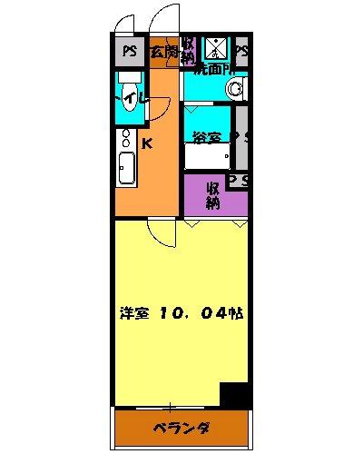 クオーレ旗の台・701号室の間取り