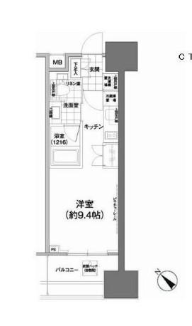 パークハビオ武蔵小山・503号室の間取り