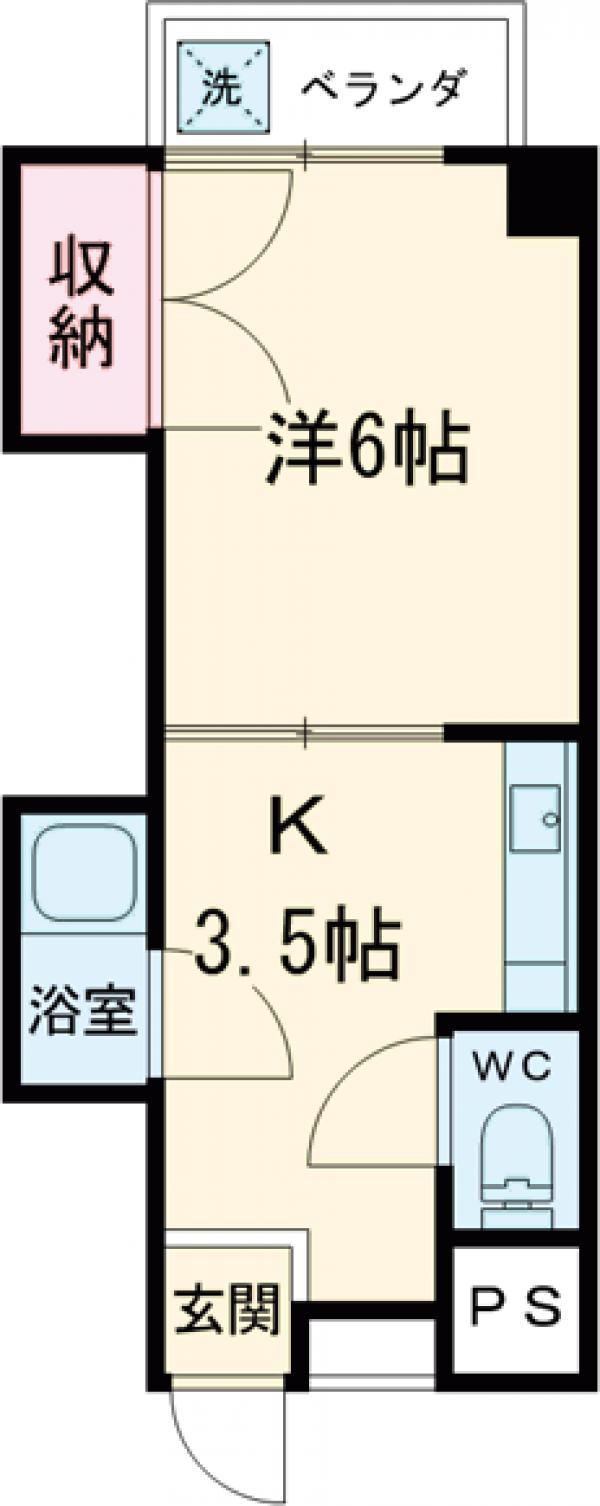 ニューシャトレーマンション 402号室の間取り