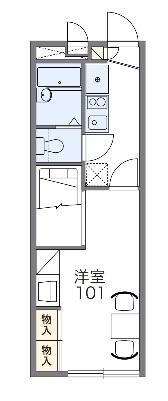 レオパレスフラワー開成Ⅱ・203号室の間取り