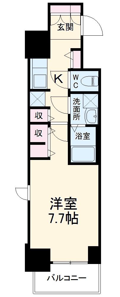 S-RESIDENCE葵II 903号室の間取り