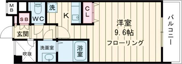 ステージファースト中野駅前・802号室の間取り