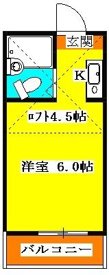 小川コーポ・205号室の間取り