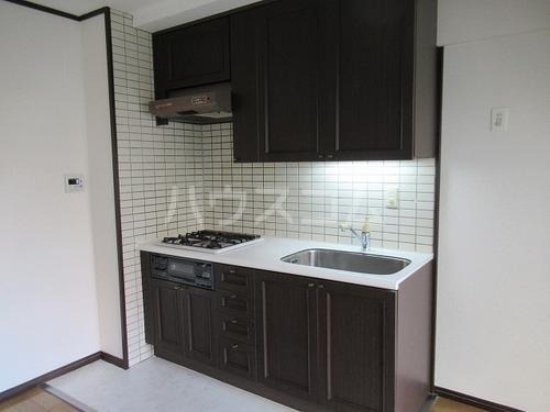 ライオンズヒルズ桜坂 508号室のキッチン
