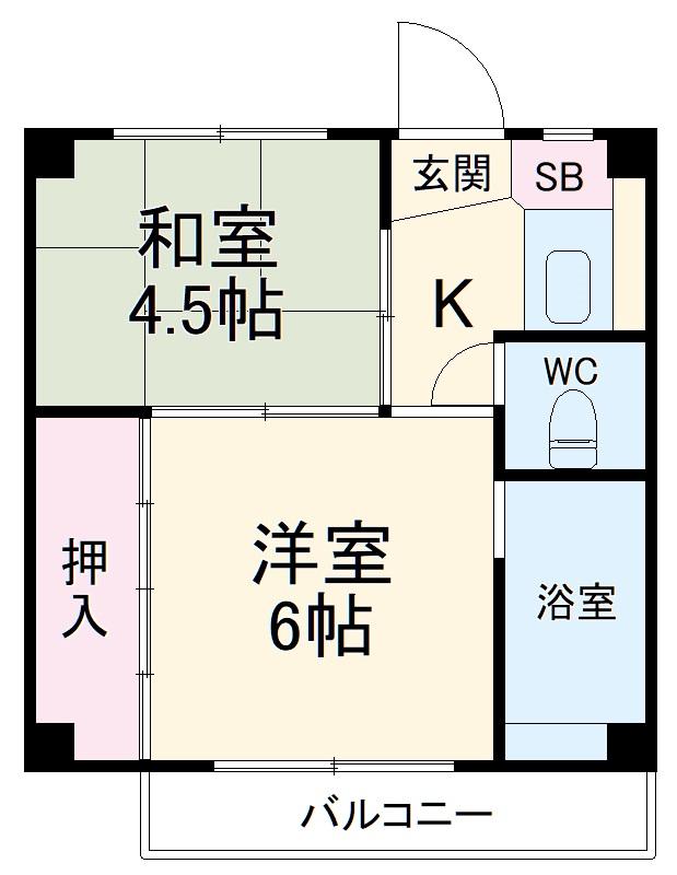 ビレッジハウス五所3号棟 304号室の間取り