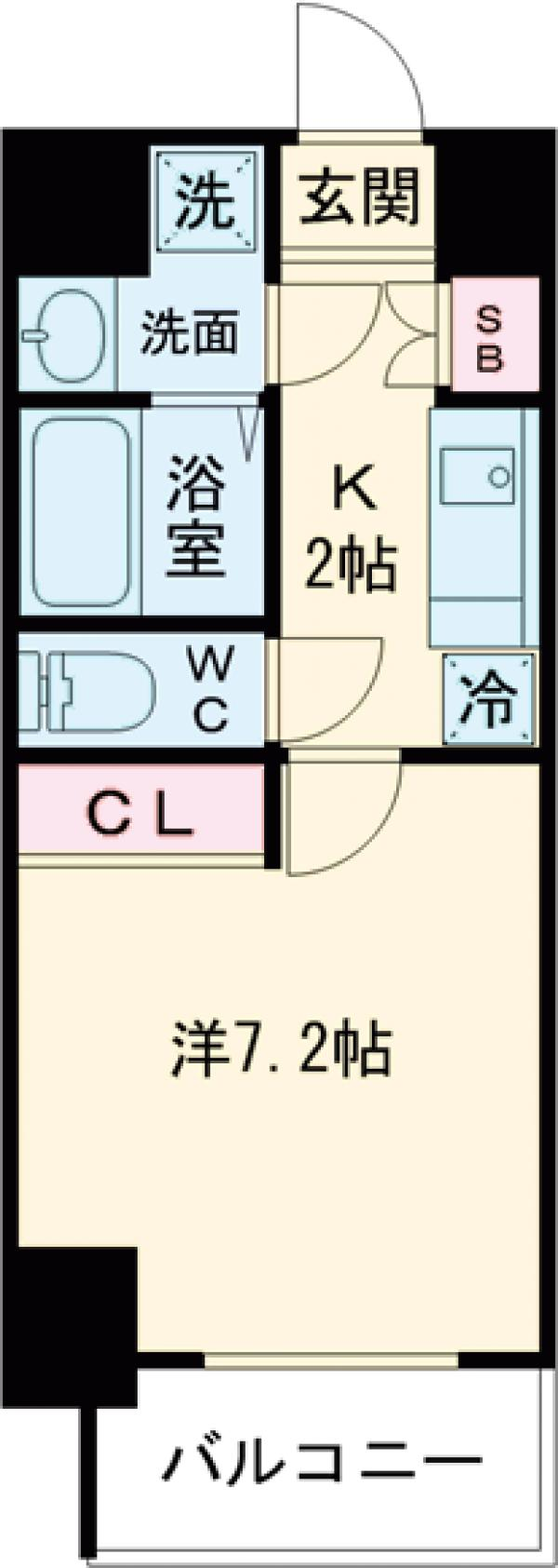 Primal Machida 202号室の間取り