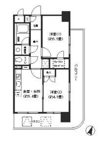 ヴィラコート横浜・302号室の間取り