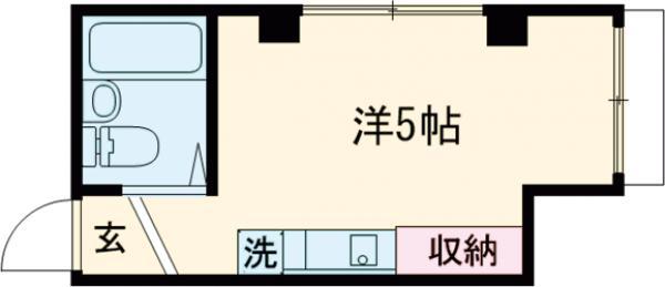 SKハイムⅡ・101号室の間取り