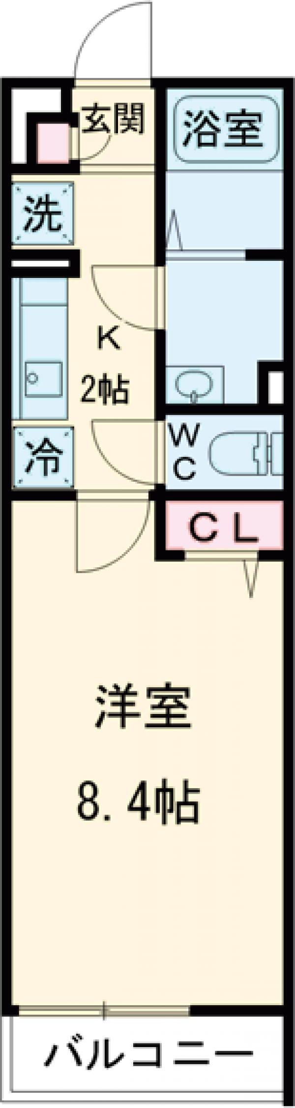 リブリ・町田 207号室の間取り