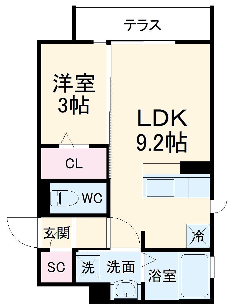 (仮称)D-room玉井町 301号室の間取り