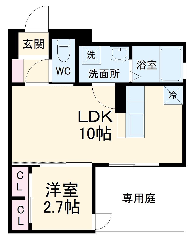 (仮称)D-room玉井町 102号室の間取り