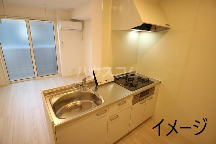 (仮称)D-room玉井町 102号室のキッチン