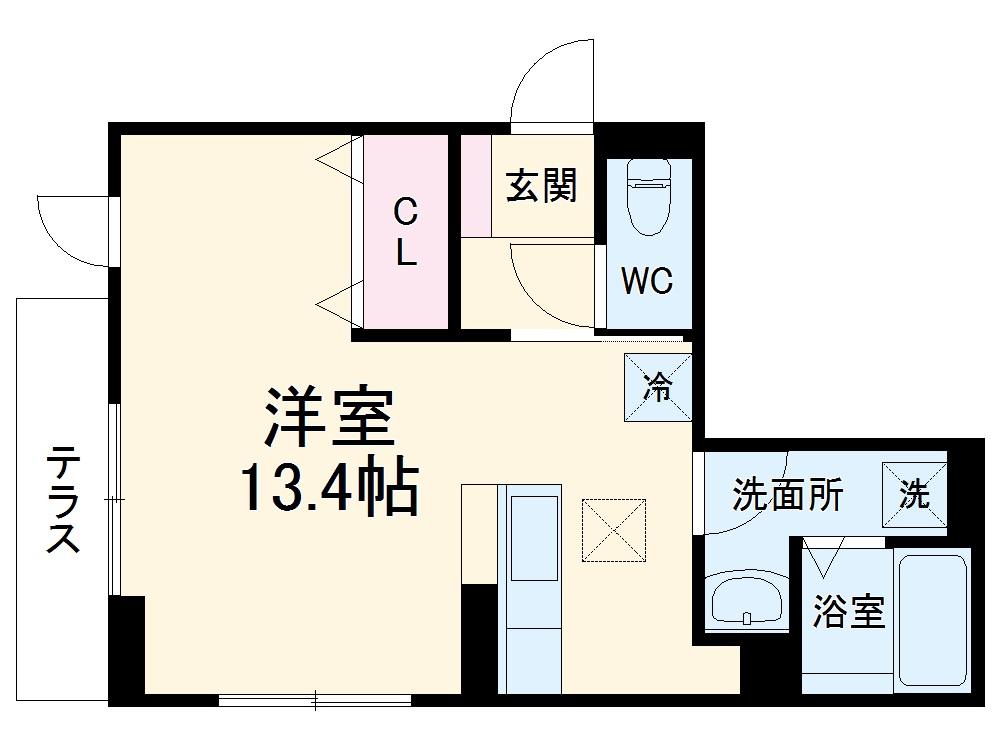 仮称)D-room北区山田2丁目ハイツ・102号室の間取り