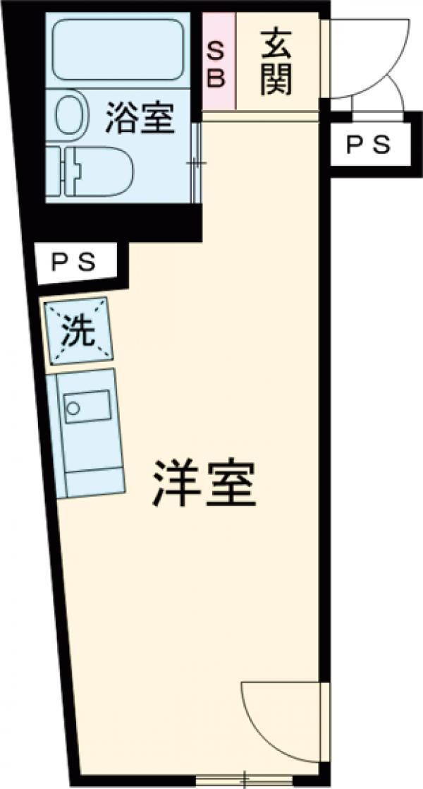 グラシアテラス高田馬場・301号室の間取り